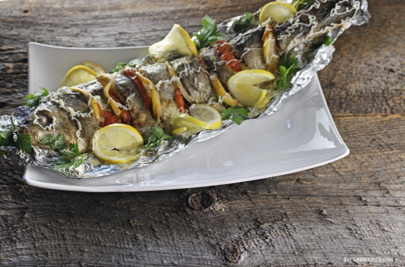 Baked american shad fish svetasrecipes for American fish and seafood